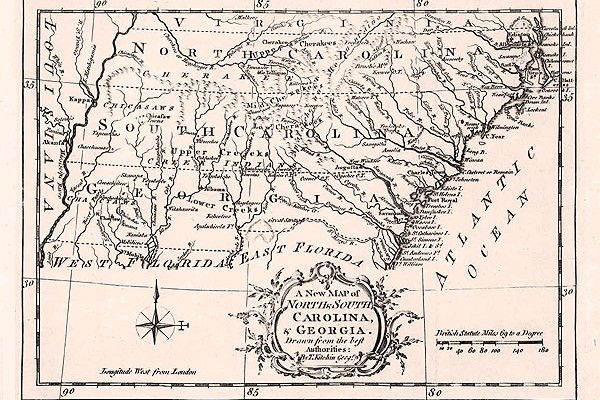 New Map of North and South Carolina and Georgia