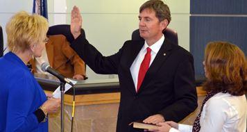 Greg Duckworth Being Sworn In