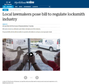 Local lawmakers pose bill to regulate locksmith industry