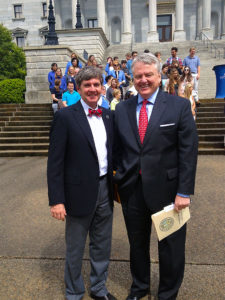 On the Capitol steps with SC State Treasurer, Curtis Loftis.