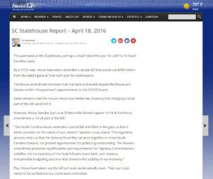 SC Statehouse Report – April 18, 2016