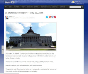 SC Statehouse Report – May 23, 2016