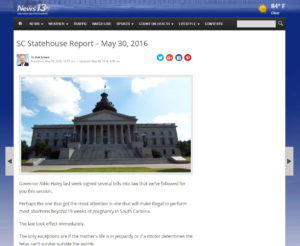 SC Statehouse Report May 30 2016