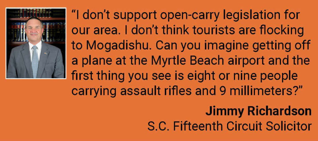 Solicitor Jimmy Richardson talks about open carry and tourism.